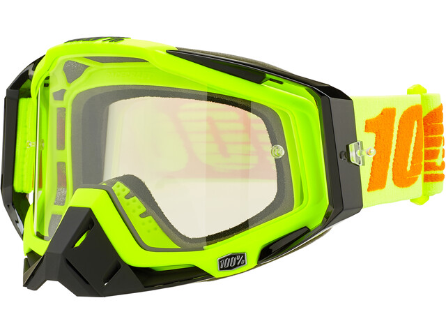 100% Racecraft Anti Fog Clear Lunettes de protection, attack yellow